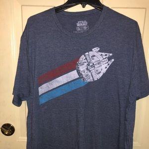 Men's XXL Disney Star Wars Millennium Falcon tee